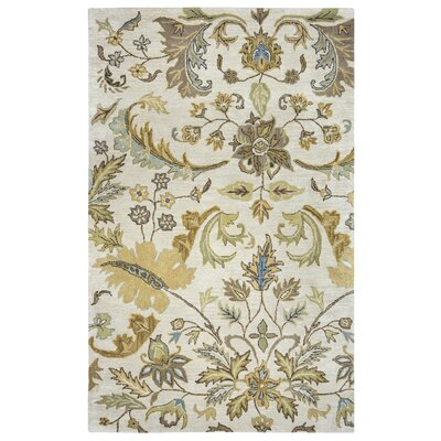 Hand-Tufted Beige Area Rug Rug Size: Rectangle 3' x 5'