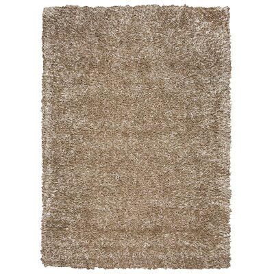 Hand-Tufted Tan Area Rug Rug Size: Round 3'