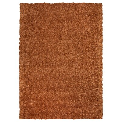 Hand-Tufted Orange Area Rug Rug Size: Rectangle 9 x 12