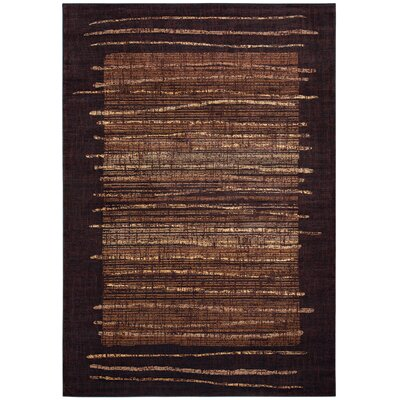 Bellevue Brown Area Rug Rug Size: Rectangle 53 x 33