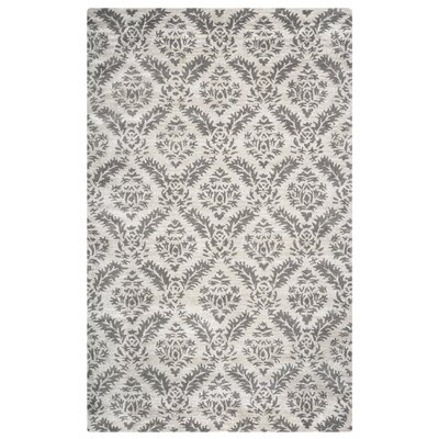 Valery Handmade Gray Area Rug Rug Size: Rectangle 5 x 8