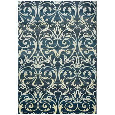 Black/Tan Area Rug Rug Size: 53 x 77