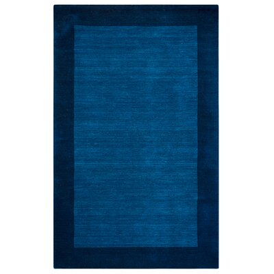Hand-Woven Indigo Blue Area Rug Rug Size: Rectangle 8 x 10