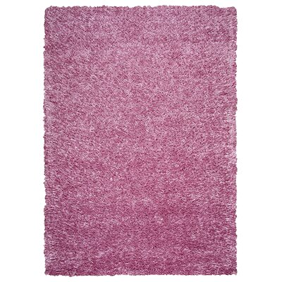 Hand-Tufted Pink Area Rug Rug Size: 36 x 56