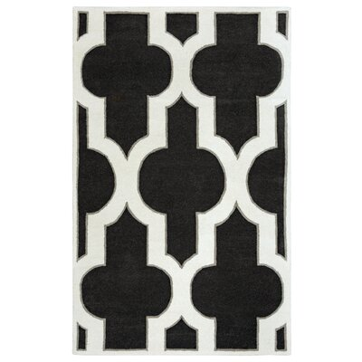 Hand-Tufted Charcoal Area Rug Rug Size: Rectangle 8 x 10