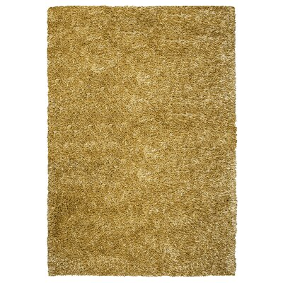Hand-Tufted Gold/Yellow Area Rug Rug Size: 5 x 7