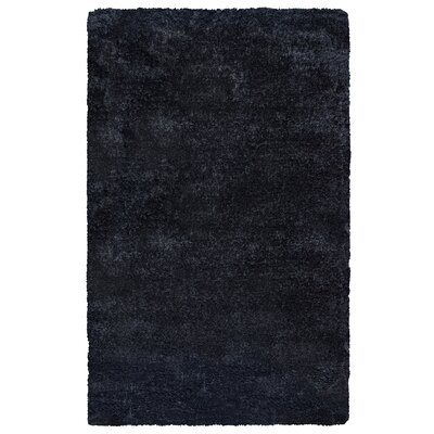 Mathena Hand-Tufted Black Area Rug Rug Size: Round 3
