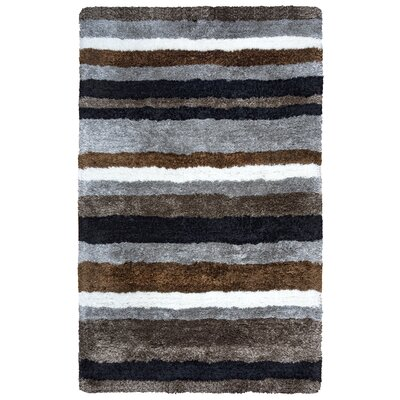 Hand-Tufted Brown/Gray Area Rug Rug Size: 5 x 8