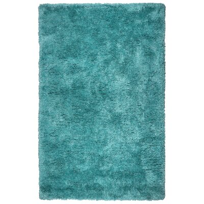 Mathena Hand-Tufted Blue Area Rug Rug Size: Round 3