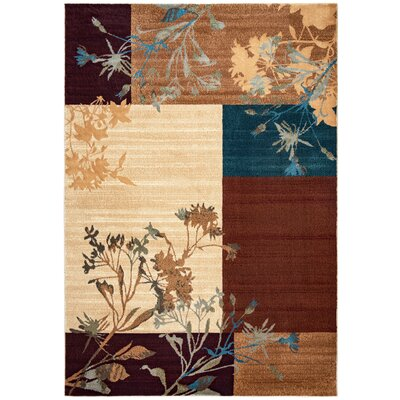 Beige Area Rug Rug Size: Rectangle 92 x 126