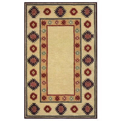 Hand-Tufted Beige Area Rug Rug Size: Rectangle 8 x 10