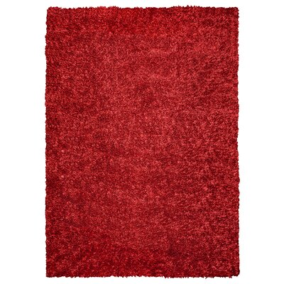 Kiera Handmade Red Area Rug Rug Size: Rectangle 5 x 7