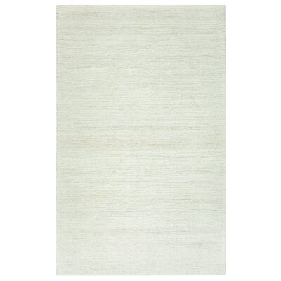 Hand-Tufted White Area Rug Rug Size: 5 x 3