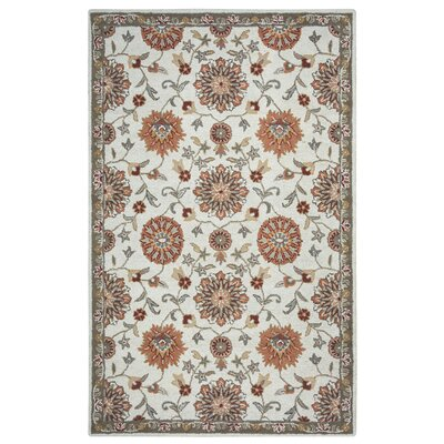 Hand-Tufted Beige Area Rug Rug Size: Rectangle 9 x 12