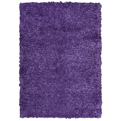 Kempton Hand-Tufted Plum Area Rug Rug Size: Rectangle 5 x 7