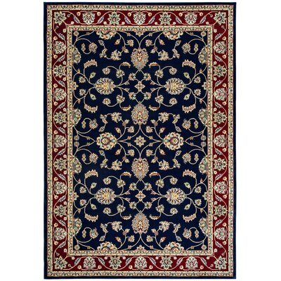 Blue Area Rug Rug Size: Rectangle 910 x 126