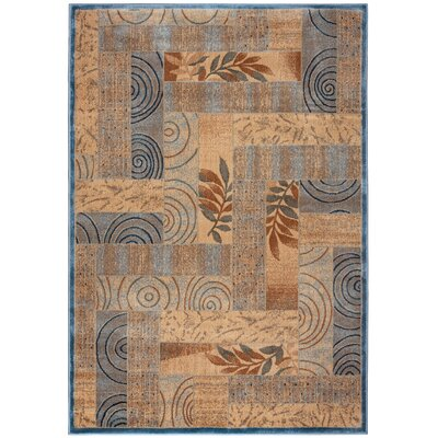 Beige/Blue Area Rug Rug Size: Rectangle 67 x 96