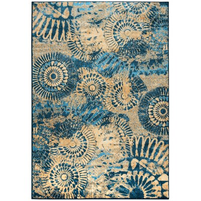 Noah Blue Area Rug Rug Size: Rectangle 92 x 126