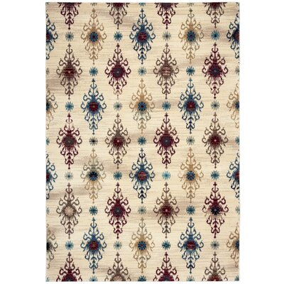 Ivory Area Rug Rug Size: Rectangle 33 x 53