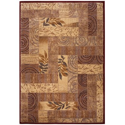 Bellevue Brown Area Rug Rug Size: 53 x 33