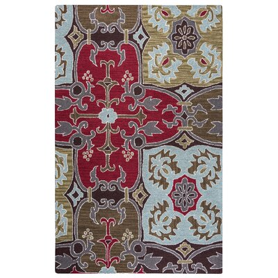 Hand-Tufted Red/Beige Area Rug Rug Size: Rectangle 2 x 3