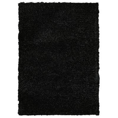 Hand-Tufted Black Area Rug Rug Size: 36 x 56