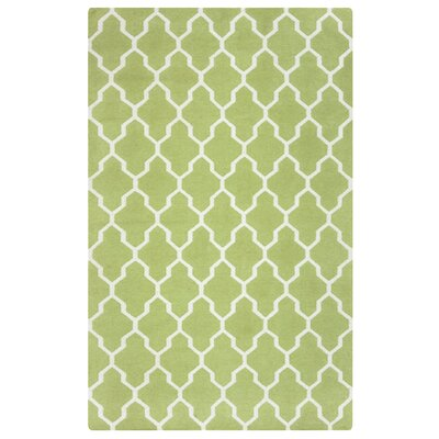 Hand-Woven Light Green Area Rug Rug Size: 2 x 3