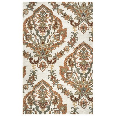 Hand-Tufted Beige Area Rug Rug Size: Rectangle 3 x 5