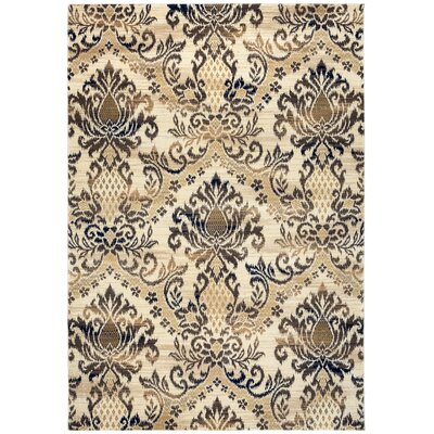 Cream/Ivory Area Rug Rug Size: Rectangle 910 x 126