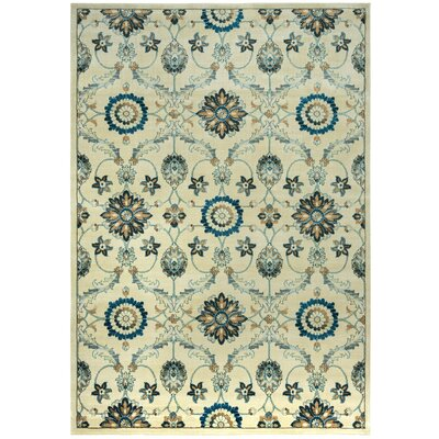 Beige Area Rug Rug Size: Rectangle 910 x 126