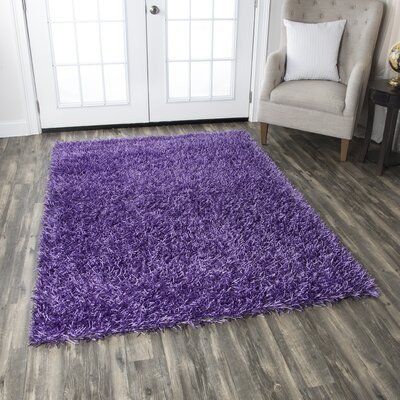 Kempton Hand-Tufted Plum Area Rug Rug Size: Rectangle 6 x 9