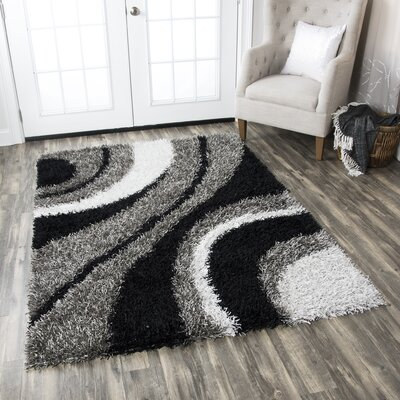 Hand-Tufted Gray Area Rug Rug Size: Round 3