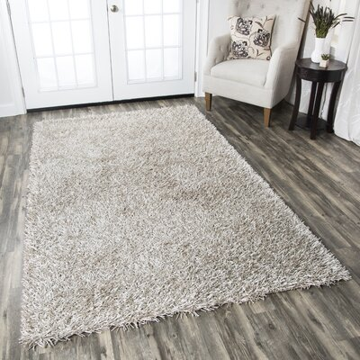 Kempton Handmade Silver Area Rug Rug Size: Rectangle 6' x 9'