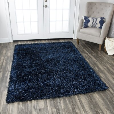 Kiera Handmade Blue Area Rug Rug Size: Rectangle 36 x 56