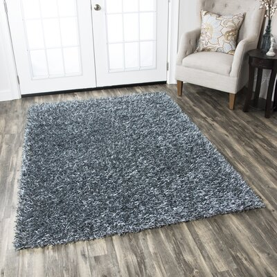 Georgia Handmade Blue Area Rug Rug Size: Rectangle 36 x 56