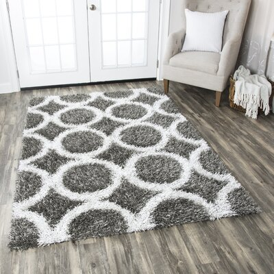 Kempton Handmade Black/Gray Area Rug Rug Size: Rectangle 8 x 10