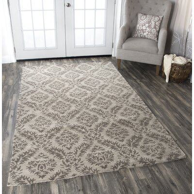 Valery Handmade Gray Area Rug Rug Size: Rectangle 8 x 10