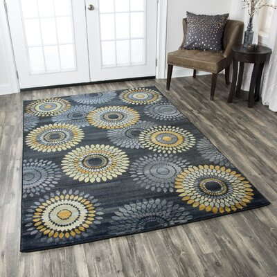Black/Green Area Rug Rug Size: 910 x 126