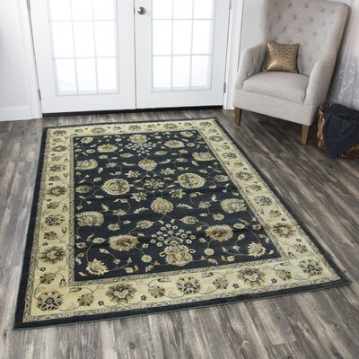Black/Tan Area Rug Rug Size: Rectangle 910 x 126