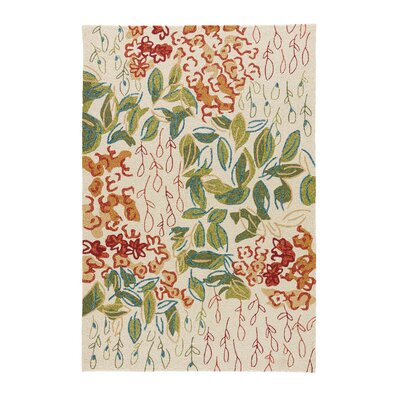 Red/Green Indoor/Outdoor Area Rug Rug Size: 5 x 76