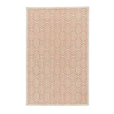 Minerva Orange Area Rug Rug Size: 76 x 96