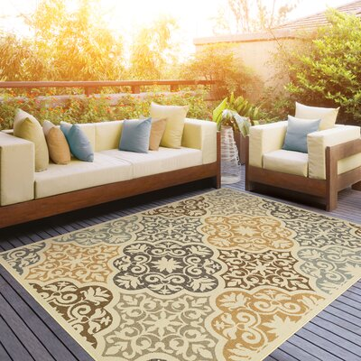 Colton Yellow/Brown Indoor/Outdoor Area Rug Rug Size: Rectangle 67 x 96
