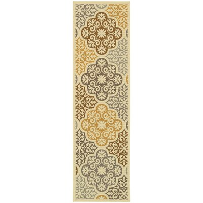 Colton Yellow/Brown Indoor/Outdoor Area Rug Rug Size: Runner 23 x 76