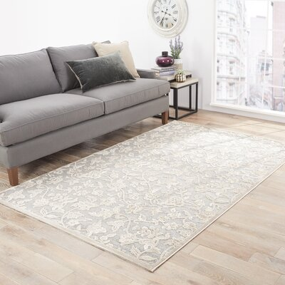 Gray Area Rug Rug Size: Rectangle 76 x 96