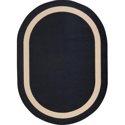 Black Area Rug Rug Size: Oval 54 x 78