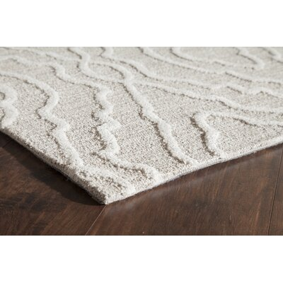 Hand-Tufted Gray Area Rug Rug Size: 2 x 3
