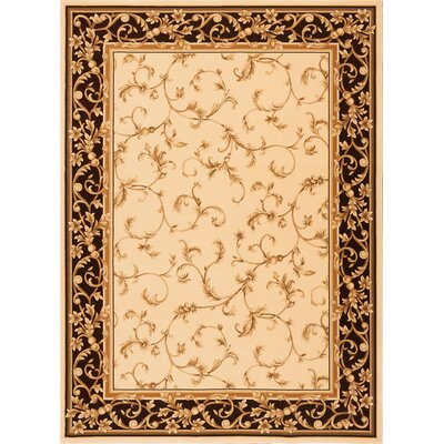 Derika  Wheat Area Rug Rug Size: Rectangle 33 x 53
