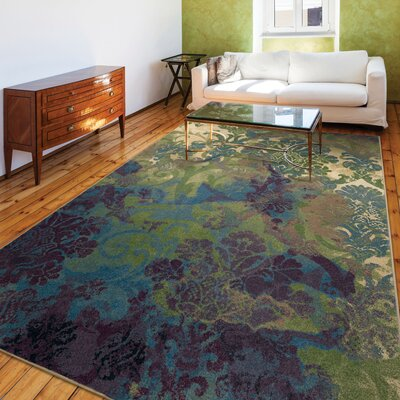 Tangled Garden Flower Bone/Green Area Rug Rug Size: 710 x 1010