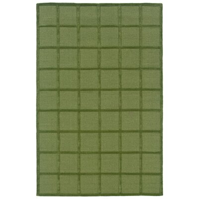Hand-Woven Green Area Rug Rug Size: 5 x 8