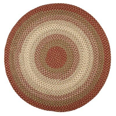 Handmade Indoor/Outdoor Area Rug Rug Size: Round 4